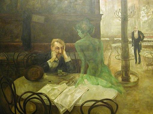 Absinthe Drinker, by Viktor Olivia